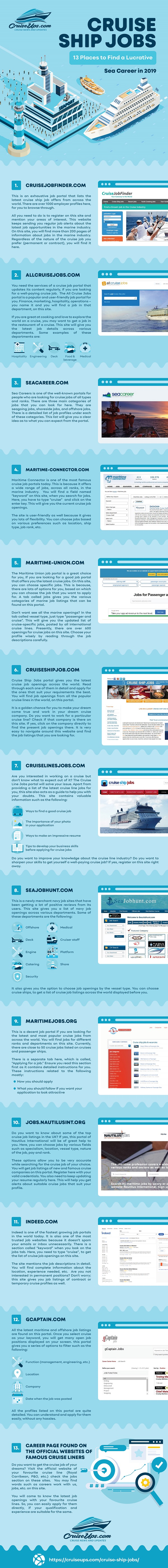 Cruise Ship Jobs – 13 Places to Find a Lucrative Sea Career